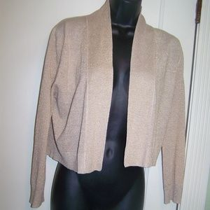Rino Rossi Sweater Jacket Shimmer Tan Gold Sparkle